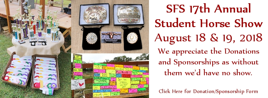 2018 SFS Show Sponsorship Request